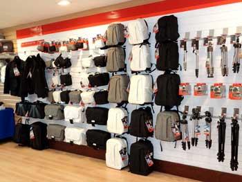 Harrison Camers 1st floor showroom - bags
