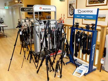 harrison cameras 1st floor showroom - tripods