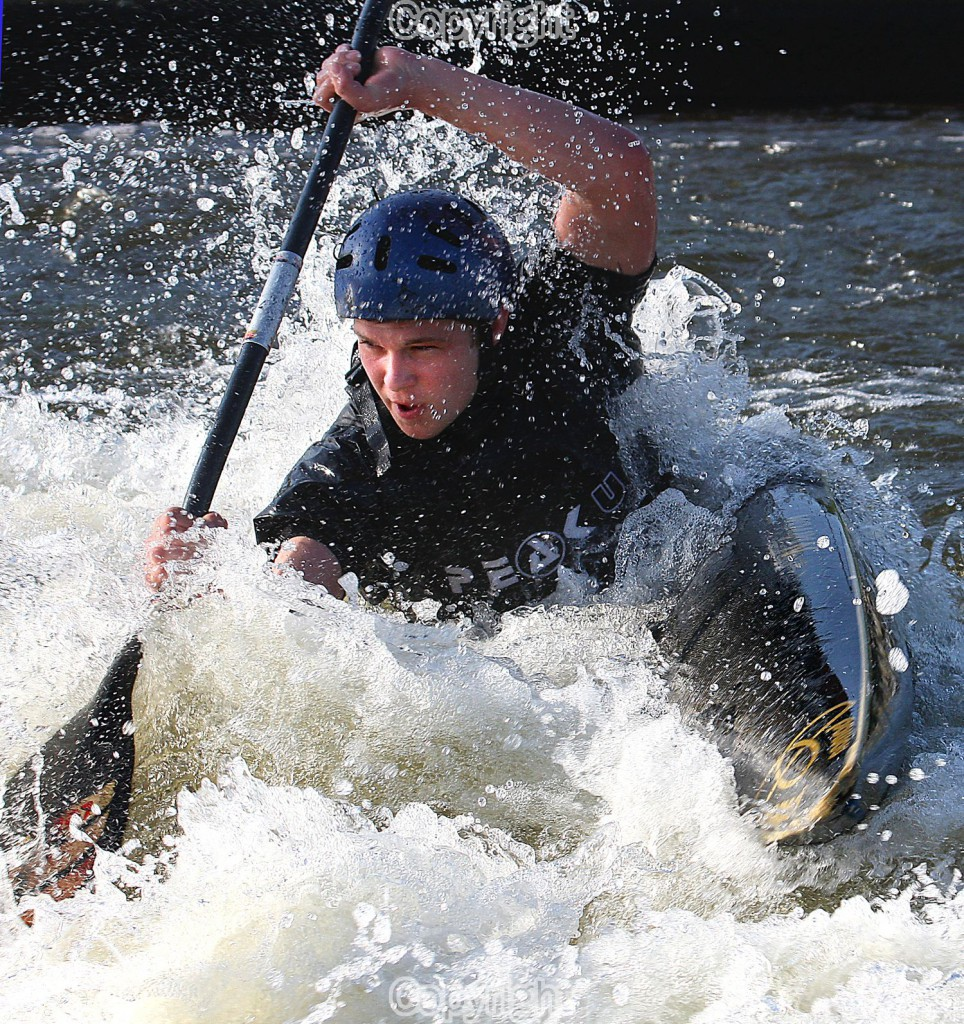 """White Water Warrior"" Image of Anton Lippeck practising for his heat in a slalom competition in Nottinghamshire."