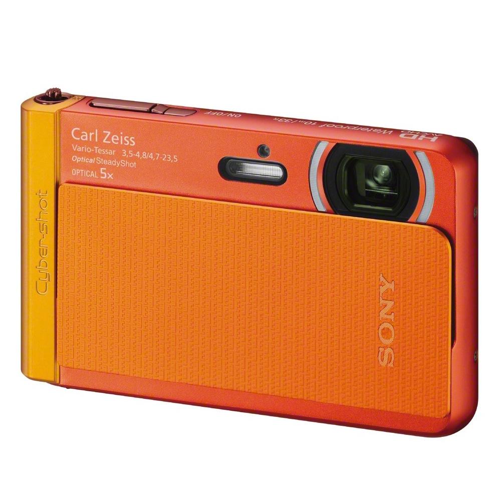 Sony cyber shot tx 30 waterproof orange digital camera for Camera camera camera