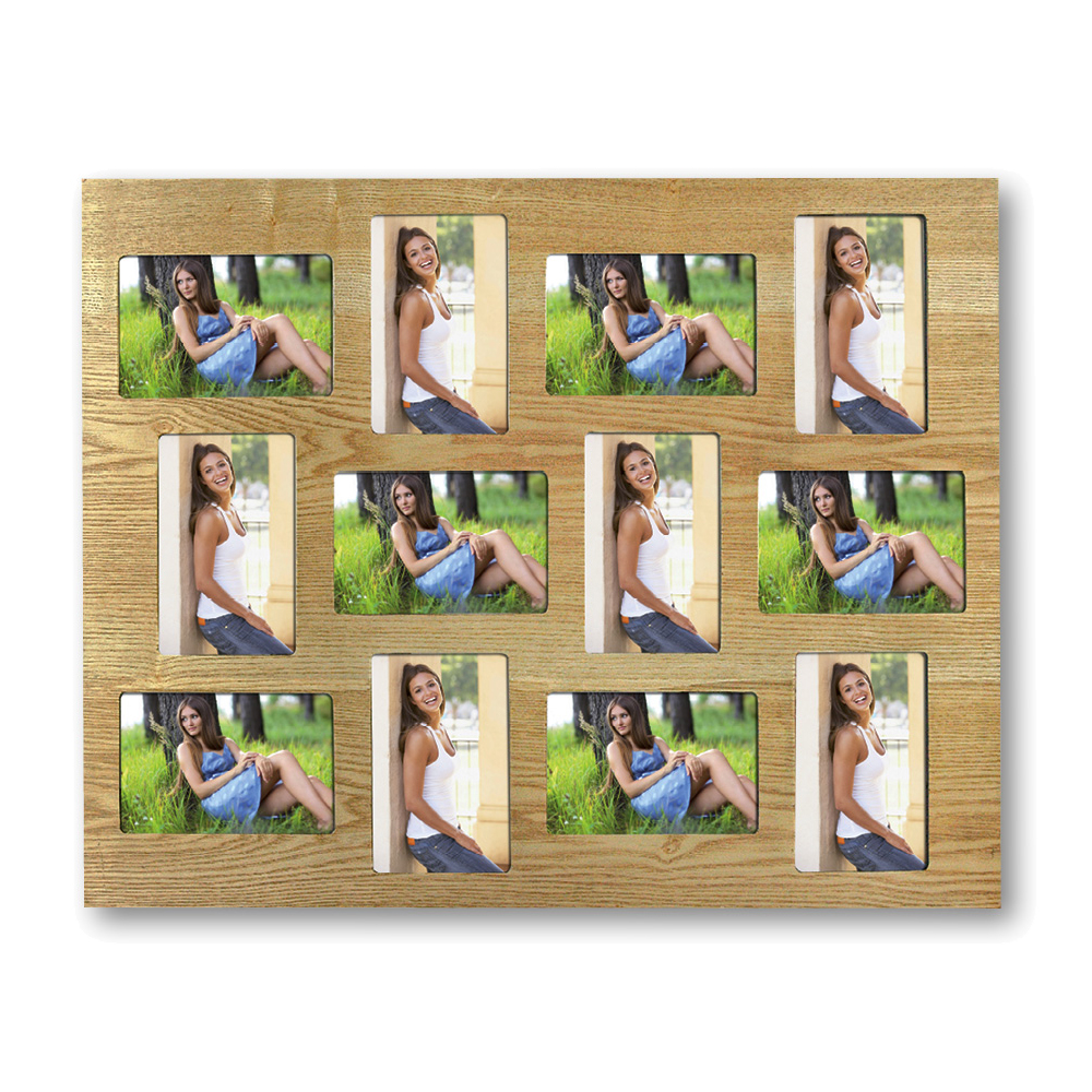 Kingston Extra Large Wooden Multi Photo Frame for 12 6x4