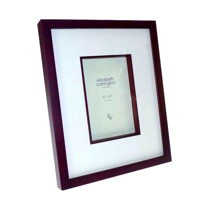 stanford 6x4 cherry wood box photo frame photo frames. Black Bedroom Furniture Sets. Home Design Ideas