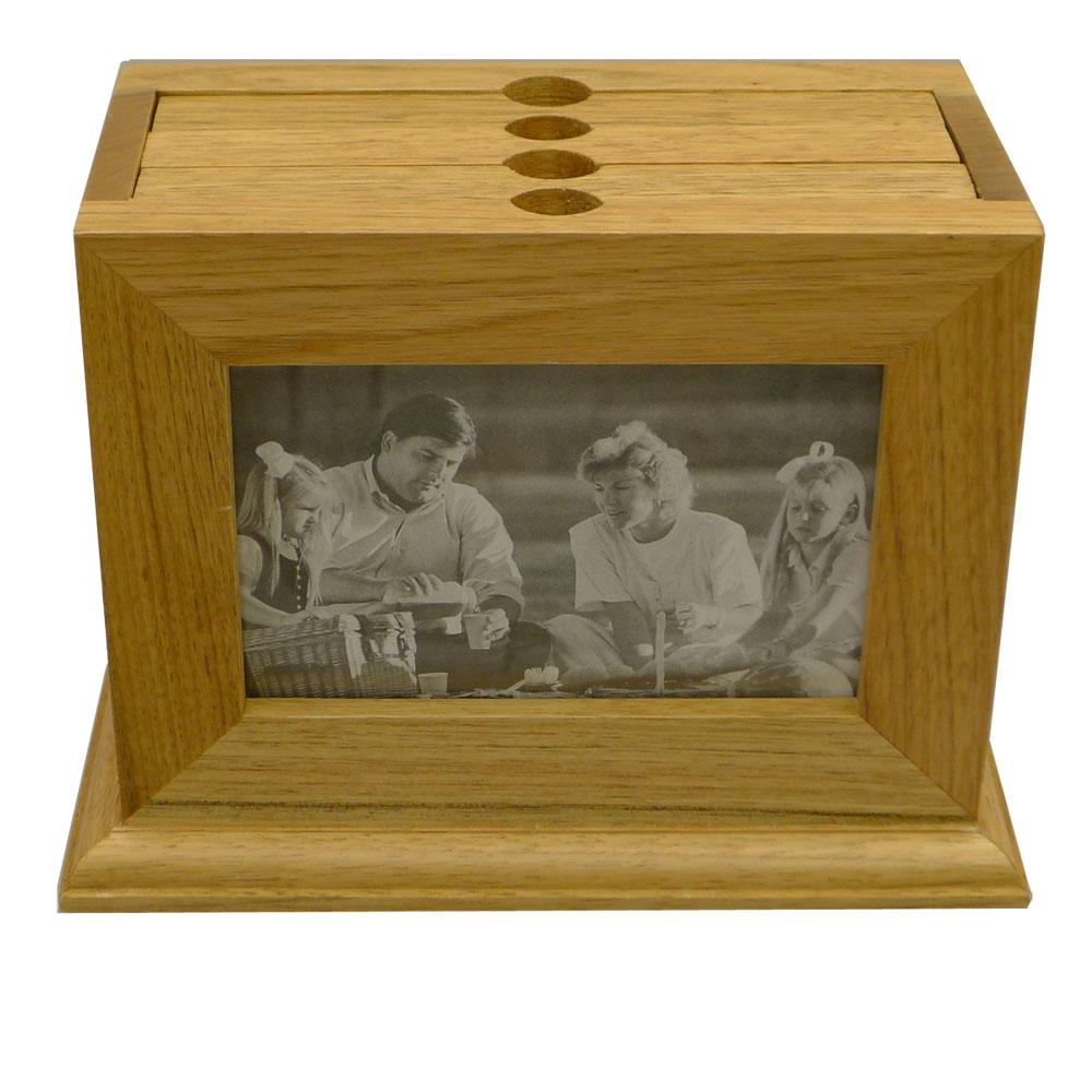 wooden photo box 72 photo album and 6x4 photo frame. Black Bedroom Furniture Sets. Home Design Ideas