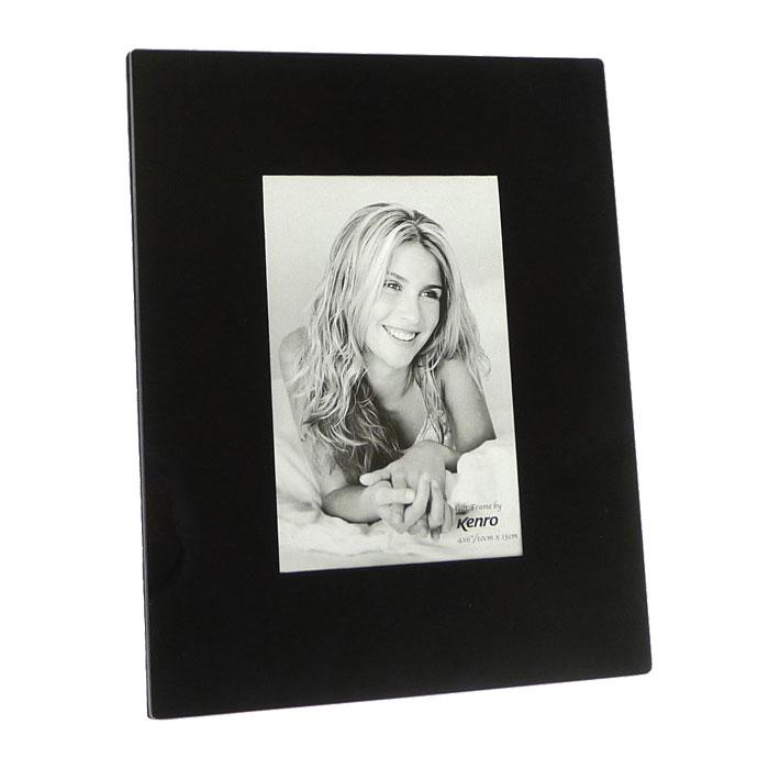 black glass 6x4 photo frame photo frames albums. Black Bedroom Furniture Sets. Home Design Ideas