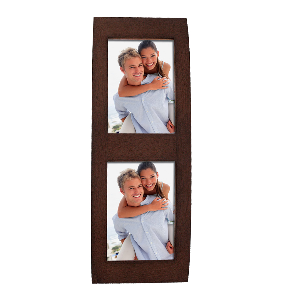 pesaro wooden double brown 6x4 photo frame photo frames. Black Bedroom Furniture Sets. Home Design Ideas