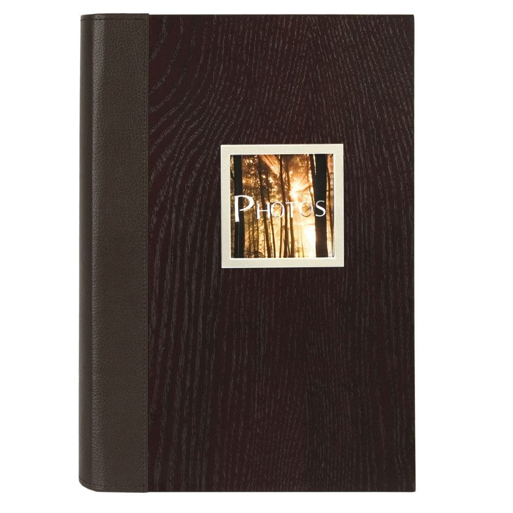 manhattan wood effect slip in 6x4 photo album 300 photos. Black Bedroom Furniture Sets. Home Design Ideas