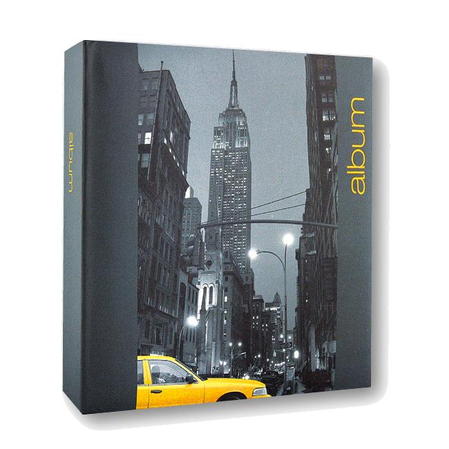 iconic city new york 6x4 slip in grey photo album 300 photos photo albums albums frames. Black Bedroom Furniture Sets. Home Design Ideas