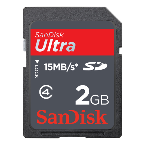 Sandisk 2GB Secure Digital Ultra 100x 15MB/s SD Memory Card - Memory Cards & Readers - Camera ...