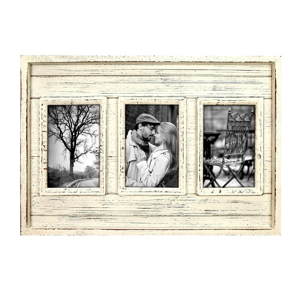 fez wooden triple 6x4 photo frame photo frames albums. Black Bedroom Furniture Sets. Home Design Ideas