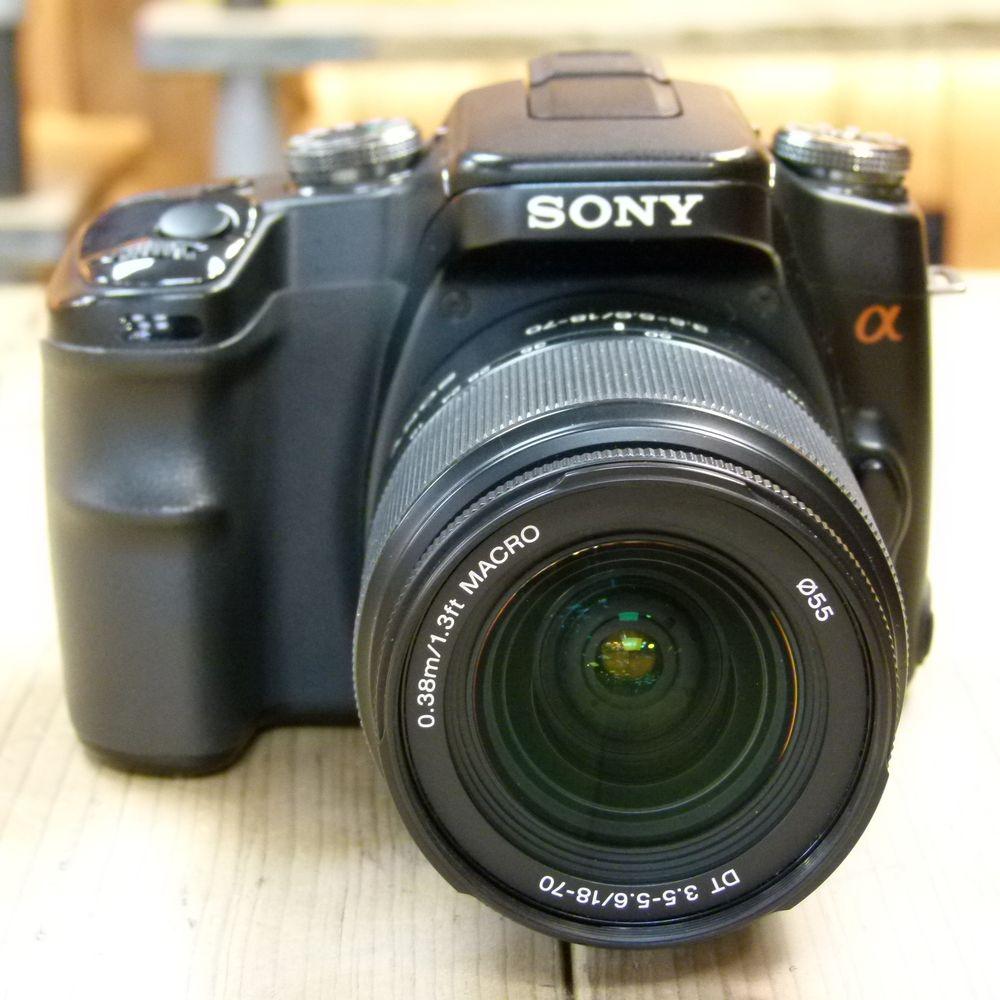 Camera Sony A100 Dslr Camera used sony alpha a100 dslr camera with 18 70mm lens cameras lens