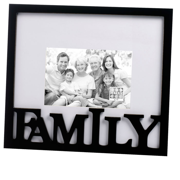 Family Carved Wooden 6x4 Photo Frame - Photo Frames - Albums & Frames ...