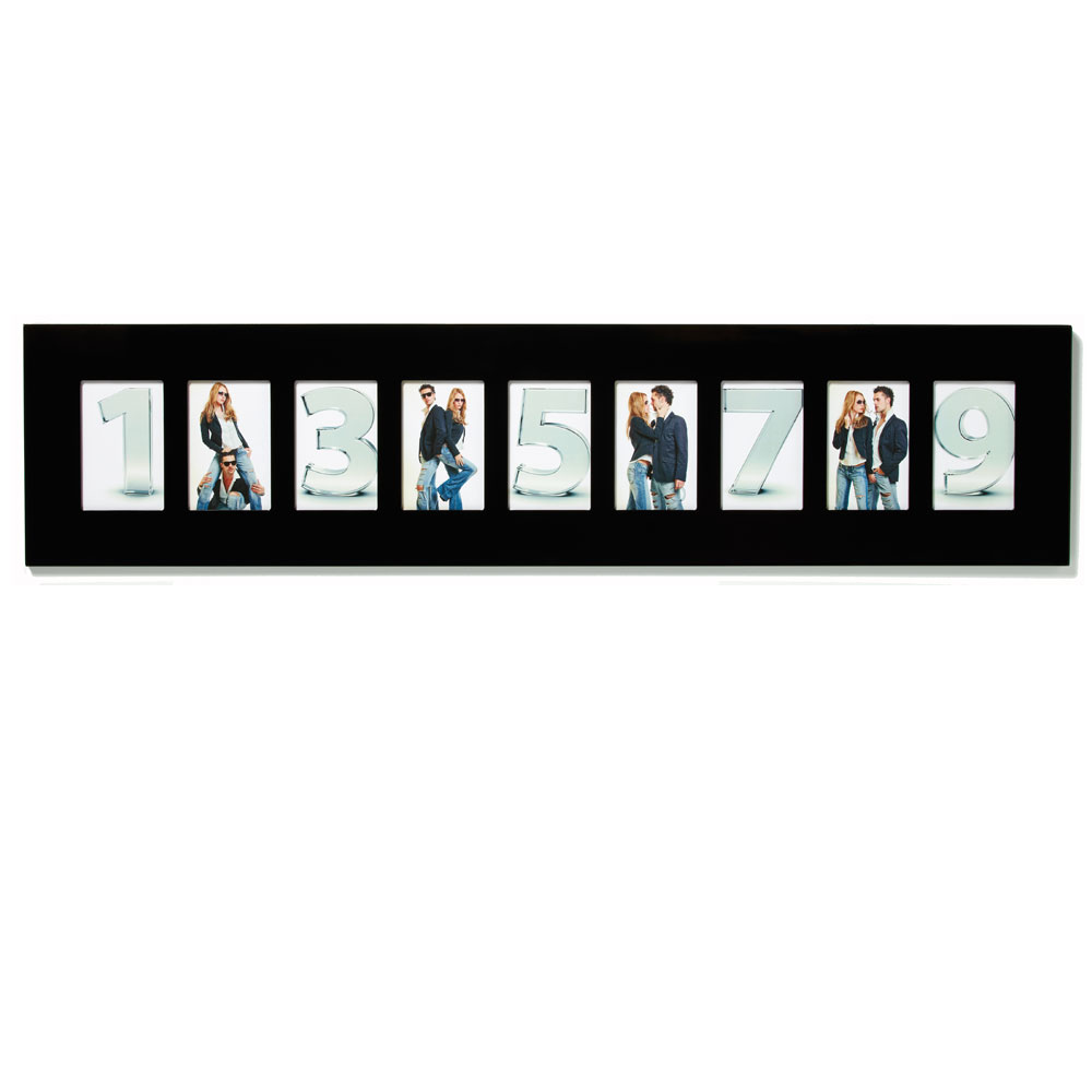 walther new line black multi aperture photo frame for 9. Black Bedroom Furniture Sets. Home Design Ideas
