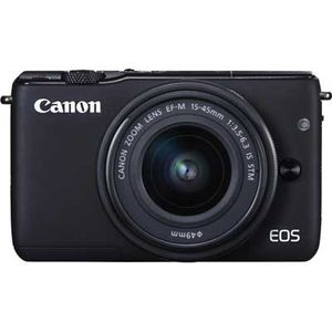 Canon EOS M10 Black Digital Camera with 15-45mm f3.5-6.3 IS STM Lens