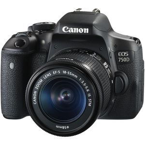 Canon EOS 750D Digital SLR Camera with 18-55mm IS STM Lens