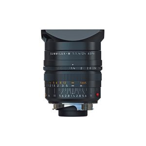 Leica M 24mm F1.4 Summilux Asph Black Lens 11601