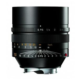 Leica M 50mm f0.95 Noctilux Asph Black Lens 11602