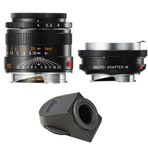 Leica M Macro Set inc 90mm F4 Lens with Angle Finder M and Macro Adapter 11629