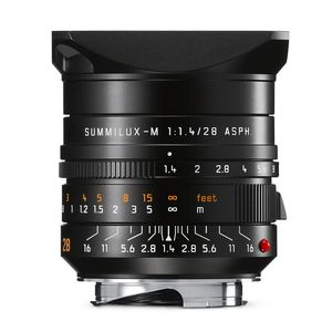 Leica Summilux-M 28mm f/1.4 ASPH Black Anodized Lens