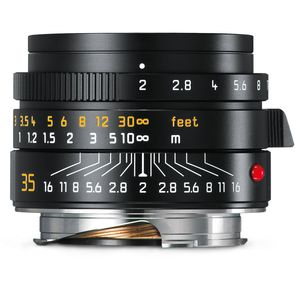 Leica Summicron-M 35mm f/2 ASPH Black Lens 11673