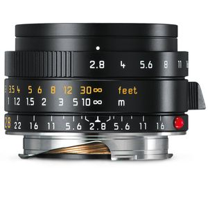 Leica Elmarit-M 28mm f/2.8 ASPH Black Lens 11677