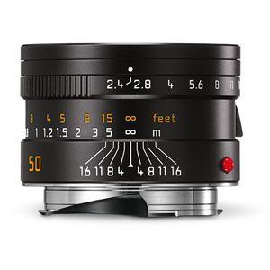 Leica Summarit-M 50mm F2.4 Black Lens 11680