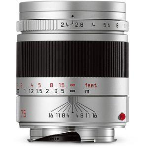 Leica Summarit-M 75mm F2.4 Silver Lens 11683