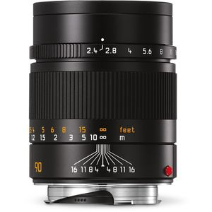 Leica Summarit-M 90mm F2.4 Black Lens 11684