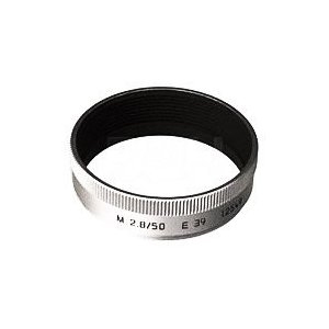 Leica Metal Lens Hood for M 50mm F2.8 Lens in Silver 12549