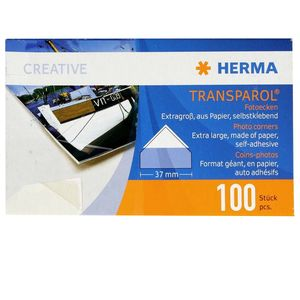 Herma Large Photo Corners for Traditional Photo Albums - 100pcs