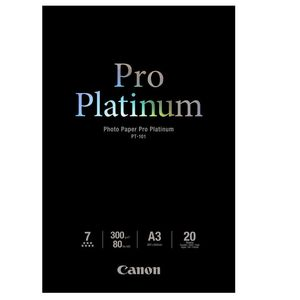 Canon PT-101 Platinum Pro A3 Photo Printer Paper - 20 Sheets