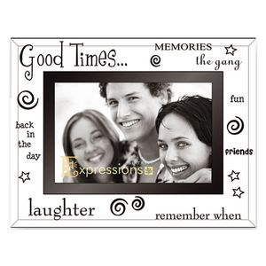 Sixtrees Good Times Glass and Mirror 6x4 Photo Frame