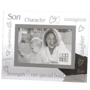 Sixtrees Son Glass and Mirror 6x4 Photo Frame