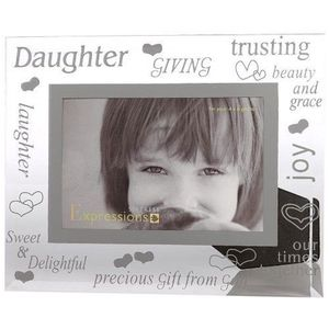 Sixtrees Daughter Glass and Mirror 6x4 Photo Frame