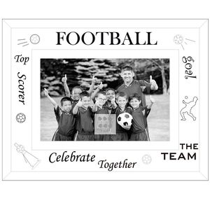 Sixtrees Football Glass and Mirror 6x4 Photo Frame
