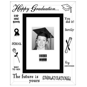 Sixtrees Graduation Glass and Mirror 6x4 Photo Frame