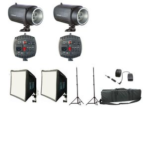 Dorr SemiPro 160Ws Flash Kit with 2x Flashes 2x Stands and Case