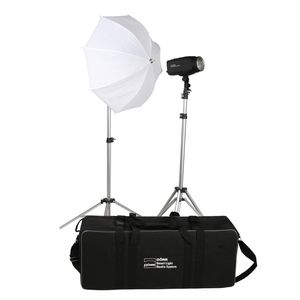 Dorr 200W Smart Light Studio Flash Kit Inc 2x 200Ws LCD Heads 2x Softboxes 2x Stands