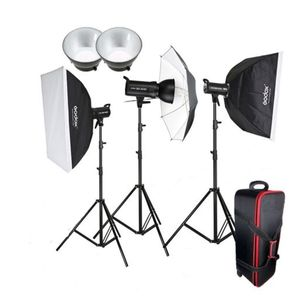 Dorr Smart Light Flash LCD Kit Inc 2x 300Ws and 2x 200Ws Flash Heads 2x Softboxes and More