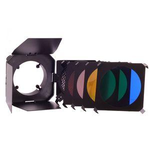 Dorr SLBL Barn Door Kit - Honeycomb and 4 Colour Filter Set