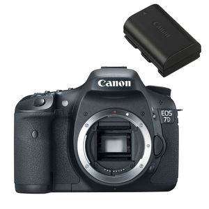 Canon EOS 7D Digital SLR Camera and Canon LP-E6 Battery Kit