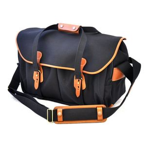 Billingham 445 Black Tan Canvas Camera Bag