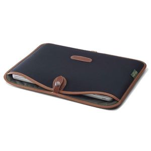 Billingham 15inch Laptop Slip Black Tan Case