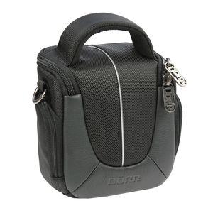 Dorr Yuma Small DSLR Camera Bag - Black and Silver