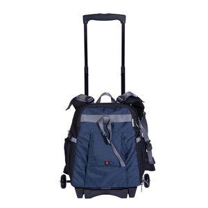 Dorr Dark Blue Travel Medium Trolley Backpack with Wheels