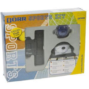 Dorr 12x25 Binoculars and Head Light Sports Kit
