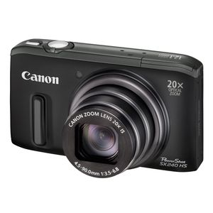 Canon PowerShot SX240 HS Black Digital Camera