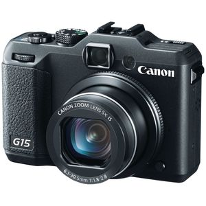 Canon PowerShot G15 Black Digital Camera