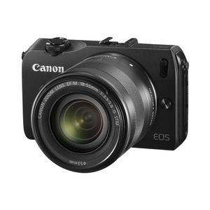 Canon EOS M Black Digital Camera with EF-M 18-55mm f/3.5-5.6 STM IS Lens