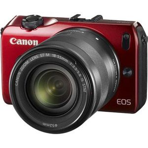 Canon EOS M Red Digital Camera with EF-M 18-55mm f/3.5-5.6 STM IS Lens