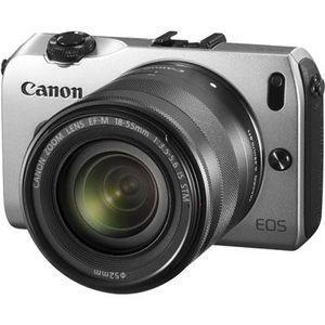Canon EOS M Silver Digital Camera with EF-M 18-55mm f/3.5-5.6 STM IS Lens